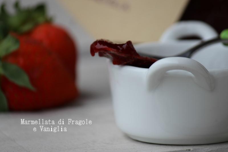 marmellata fragole e vaniglia