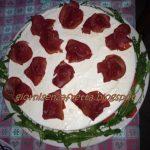 Cheesecake salata con rucola e bresaola