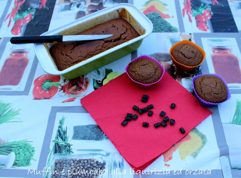 Muffin con liquirizia ed orzata