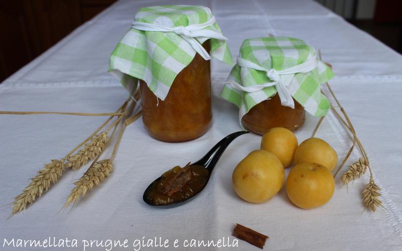 marmellata prugne gialle e cannella