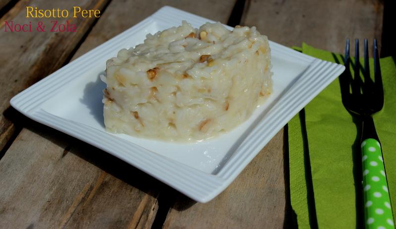 risotto pere noci gorgonzola