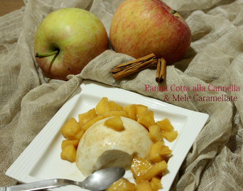 panna cotta alla cannella e mele caramellate