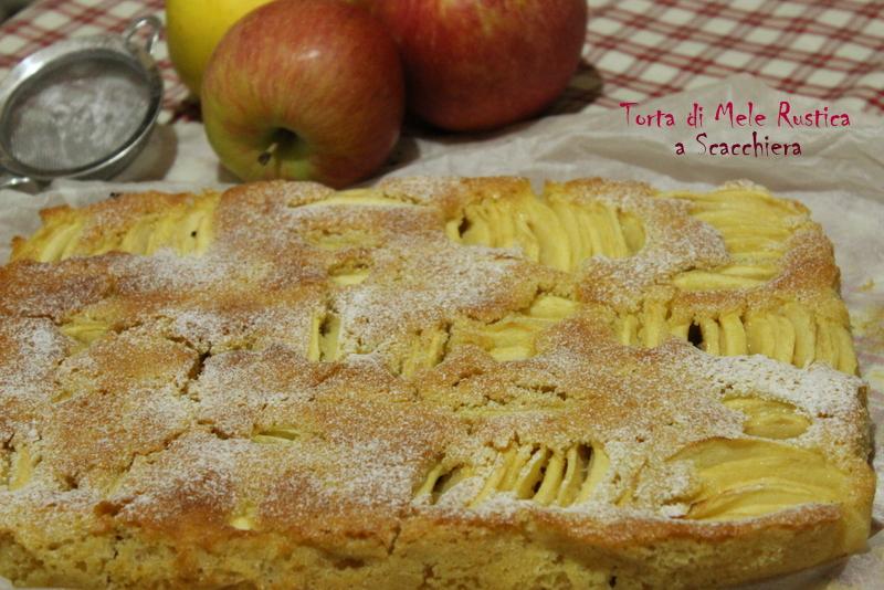 torta di mele a scacchiera