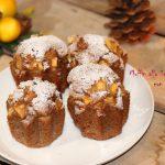 Muffin allo sciroppo d'acero con mele e noci