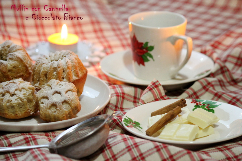 muffin cioccolato bianco e cannella