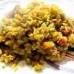 Paella valenciana mista carne e pesce