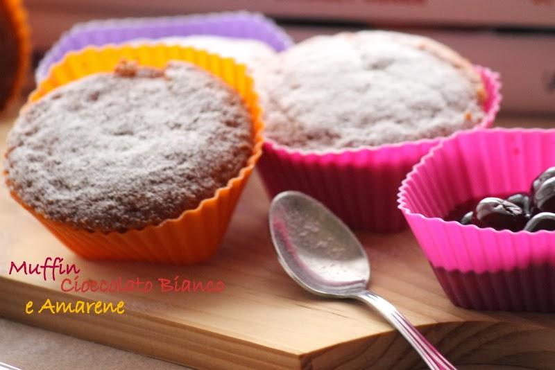 muffin cioccolato bianco e amarene