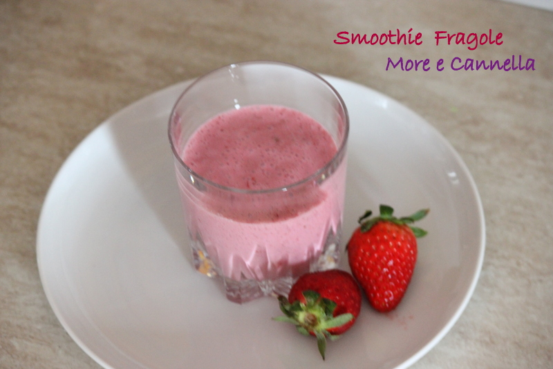 smoothie fragole more e cannella