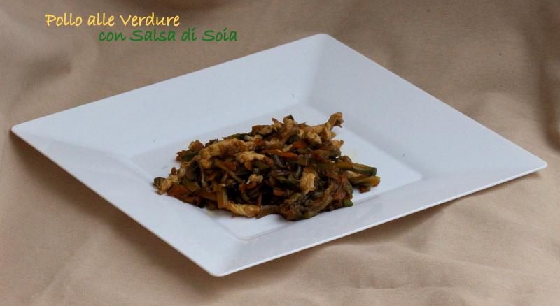 pollo e verdure alla soia