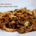 Bocconcini di pollo e verdure alla soia