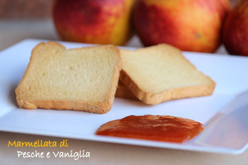 marmellata pesche e vaniglia