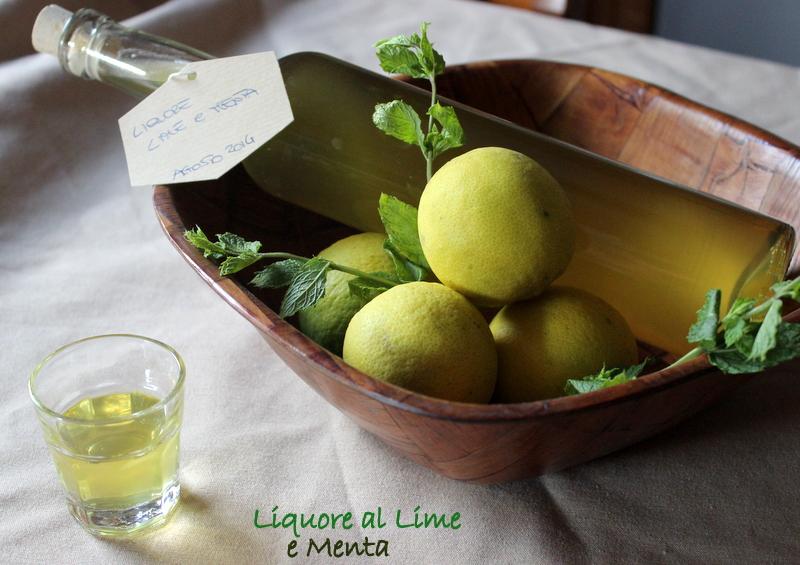 Liquore al lime e menta