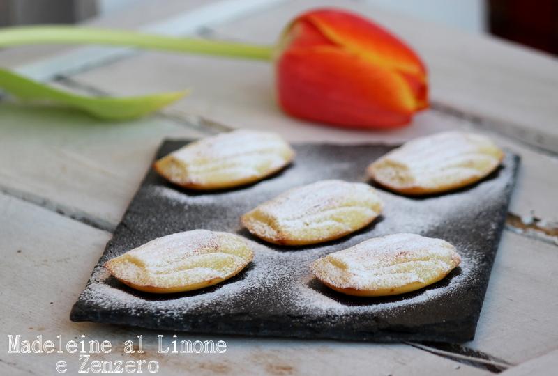 madelines al limone e zenzero