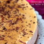 Cheesecake alla vaniglia con salsa al caramello mou