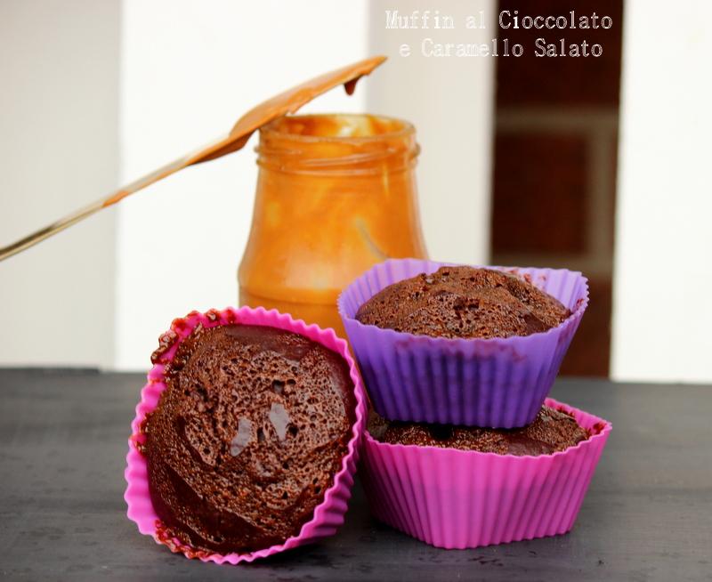 Muffin al cioccolato e caramello salato