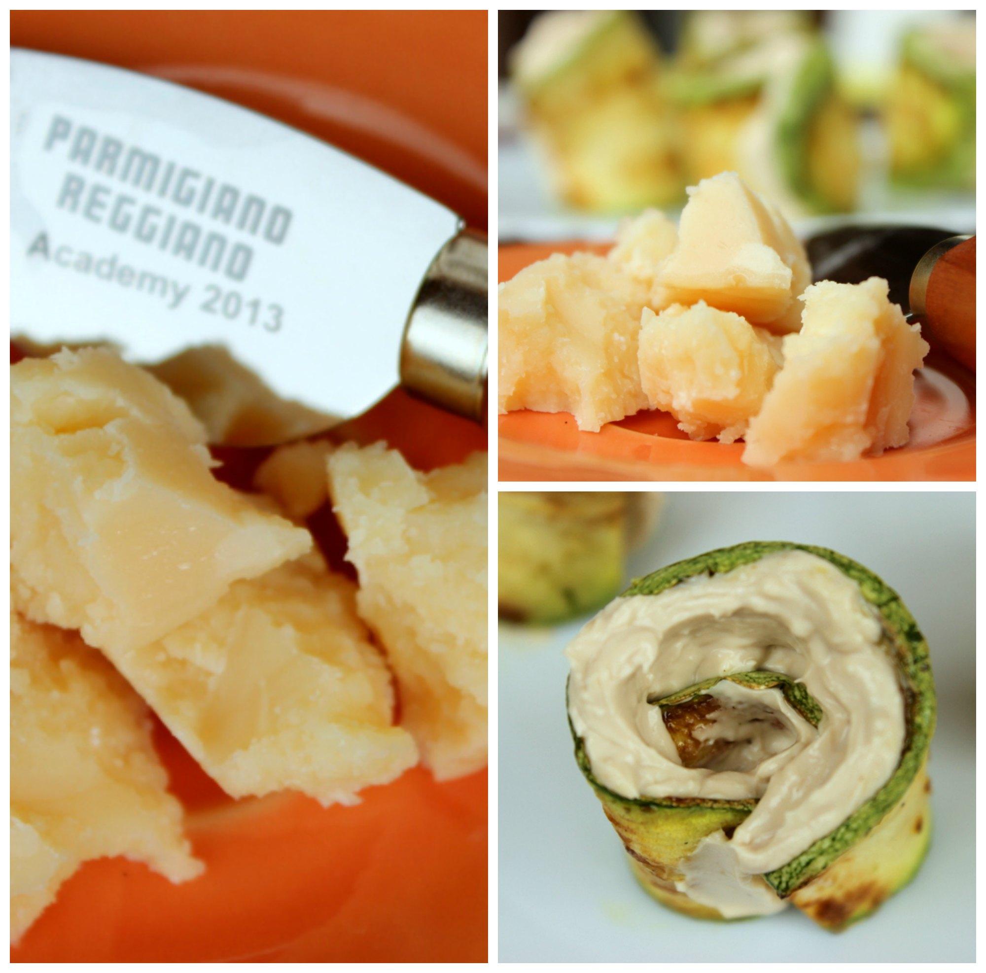 rotolini di zucchine con mousse al parmigiano e balsamico