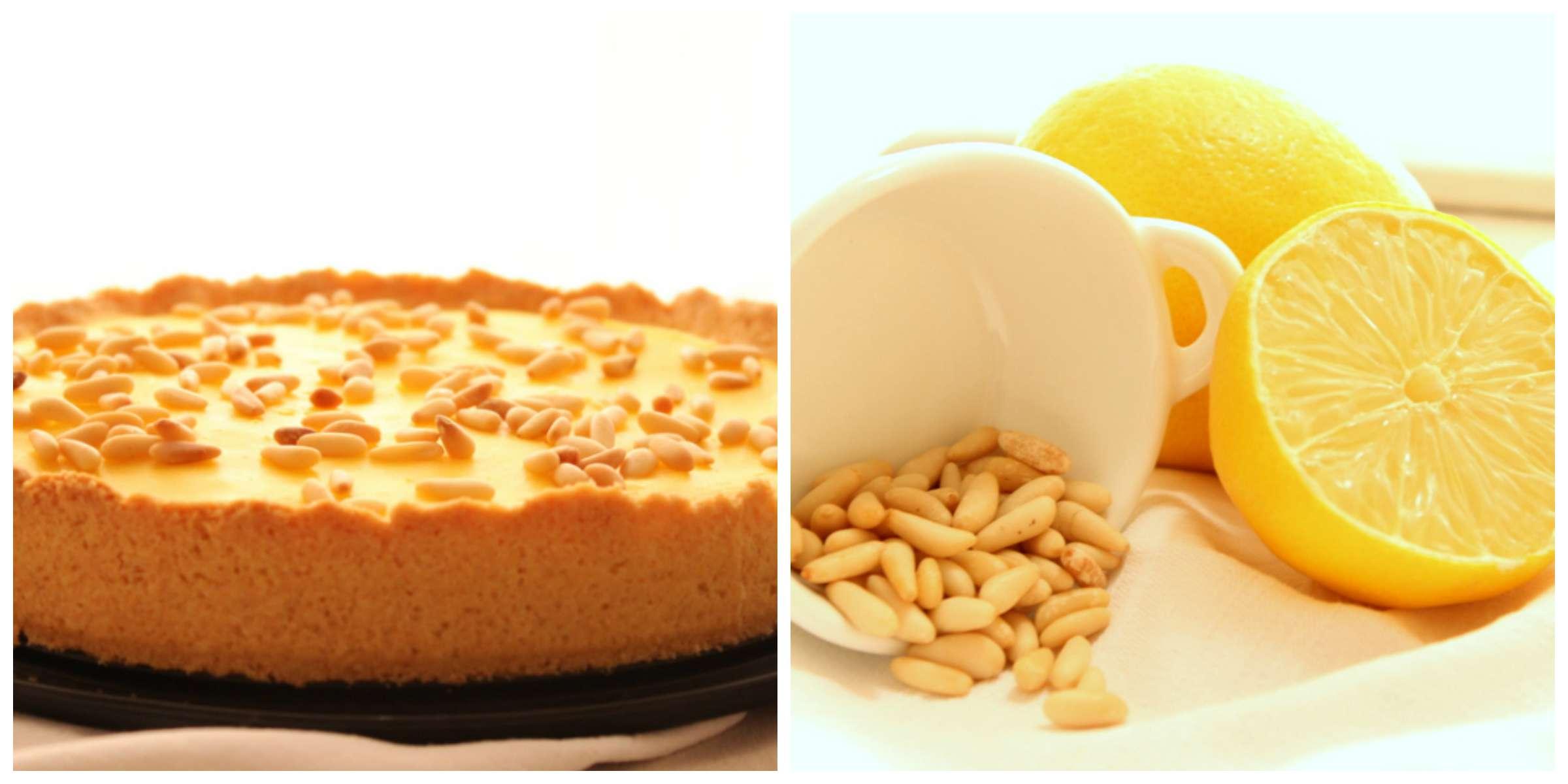 crostata limone e pinoli