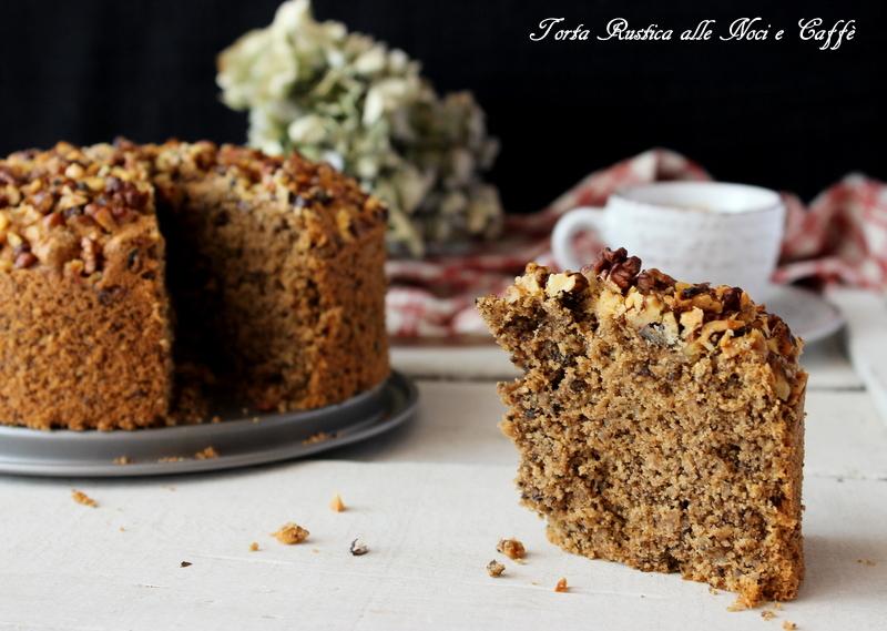 torta rustica noci e caffè