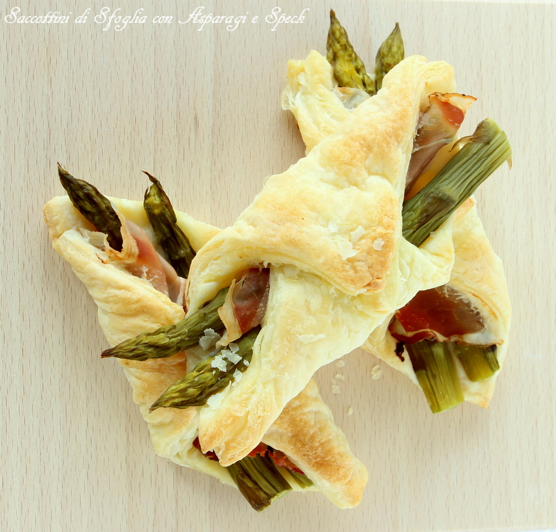 saccottini speck e asparagi