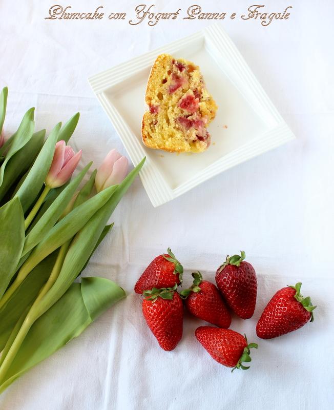 plumcake panna e fragole