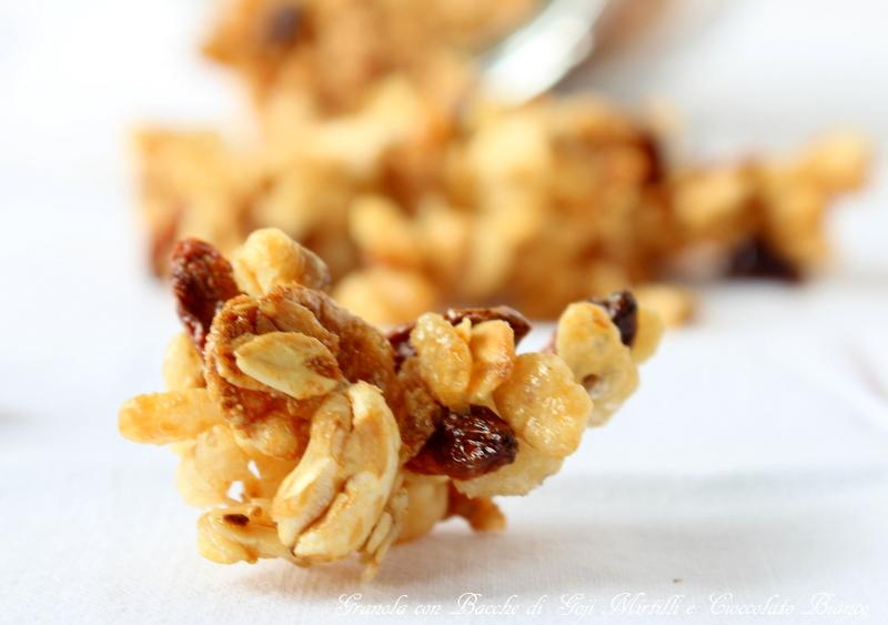 granola con cioccolato bianco