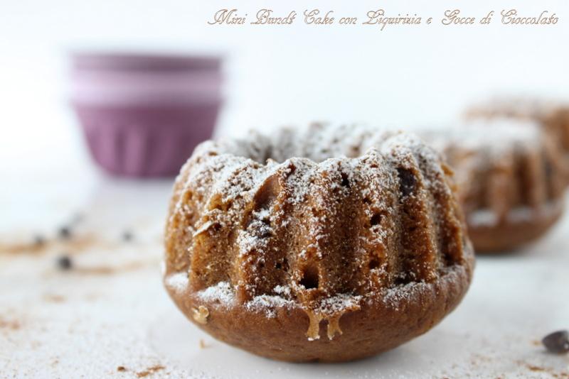 mini bundt cake ciocco liquirizia