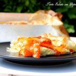 Torta salata con peperoni e carote