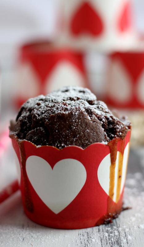 muffin al cacao e caramello