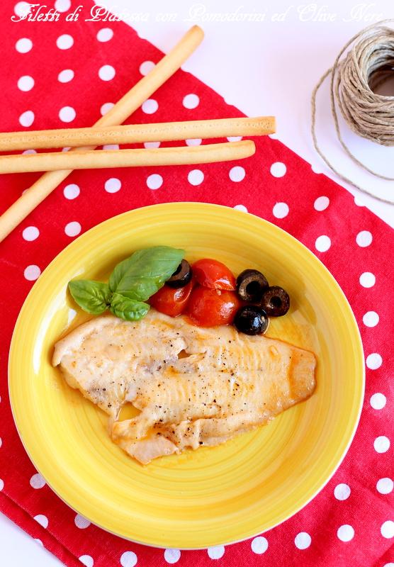 platessa con pomodorini e olive