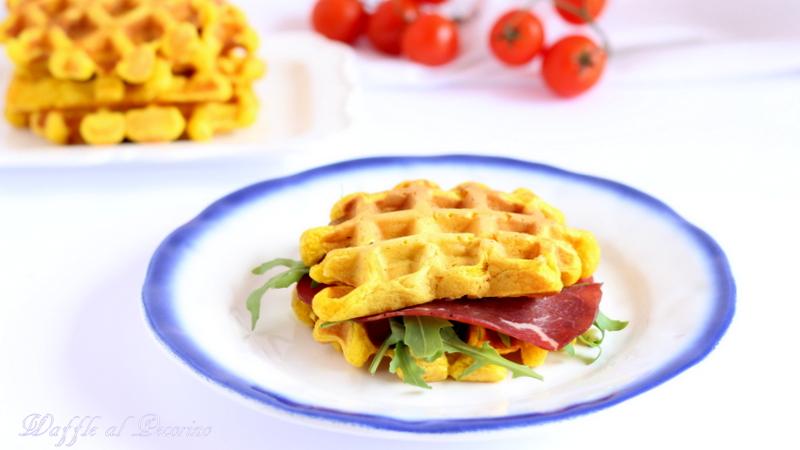 waffle al pecorino