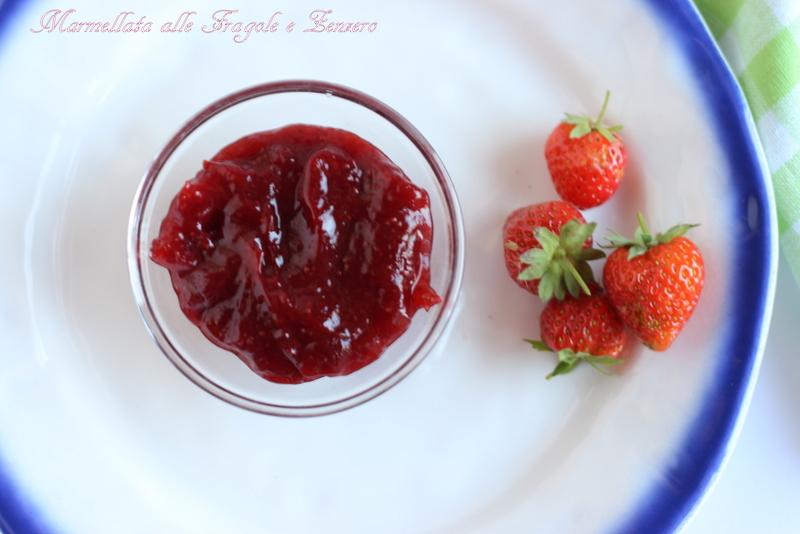 confettura alle fragole e zenzero