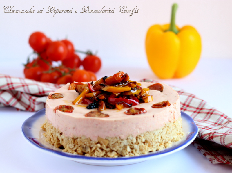 cheesecake salata ai peperoni