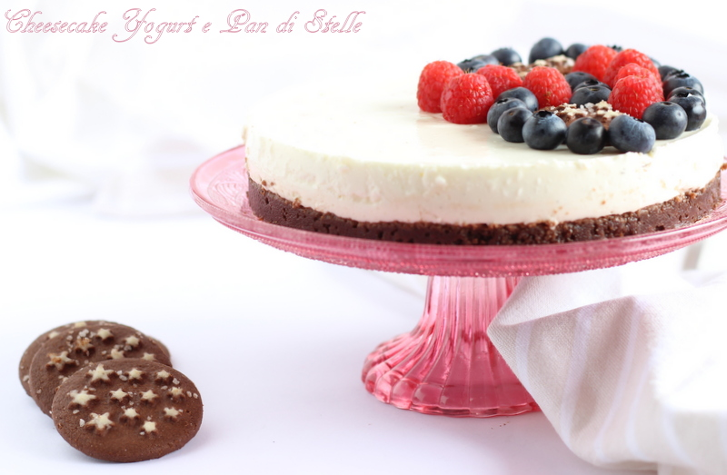 Cheesecake con yogurt greco e Pan di Stelle