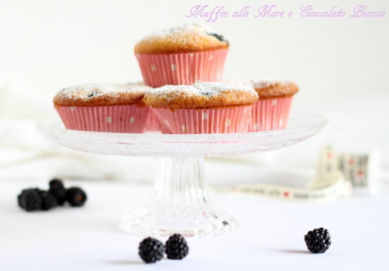 muffin more e cioccolato bianco