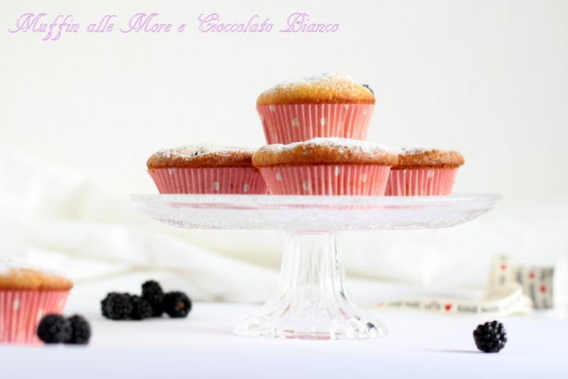 Muffin alle more e cioccolato bianco