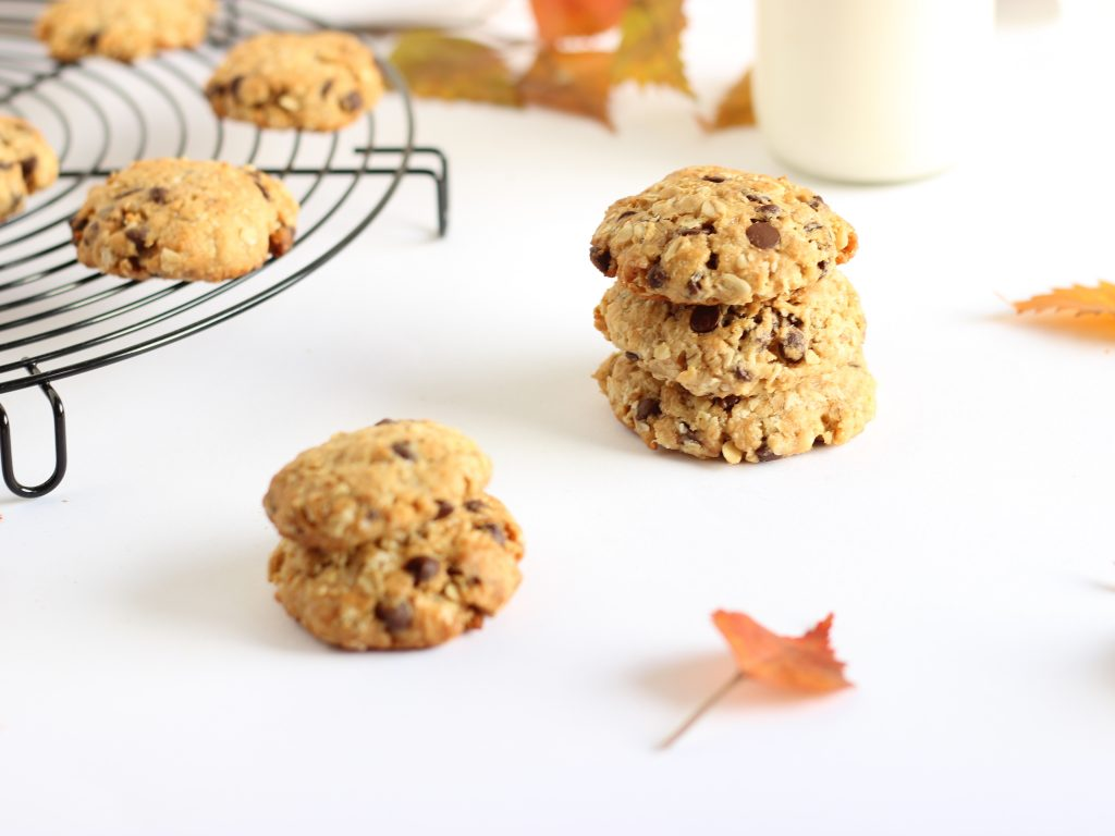 cookies all'avena e gocce di cioccolato