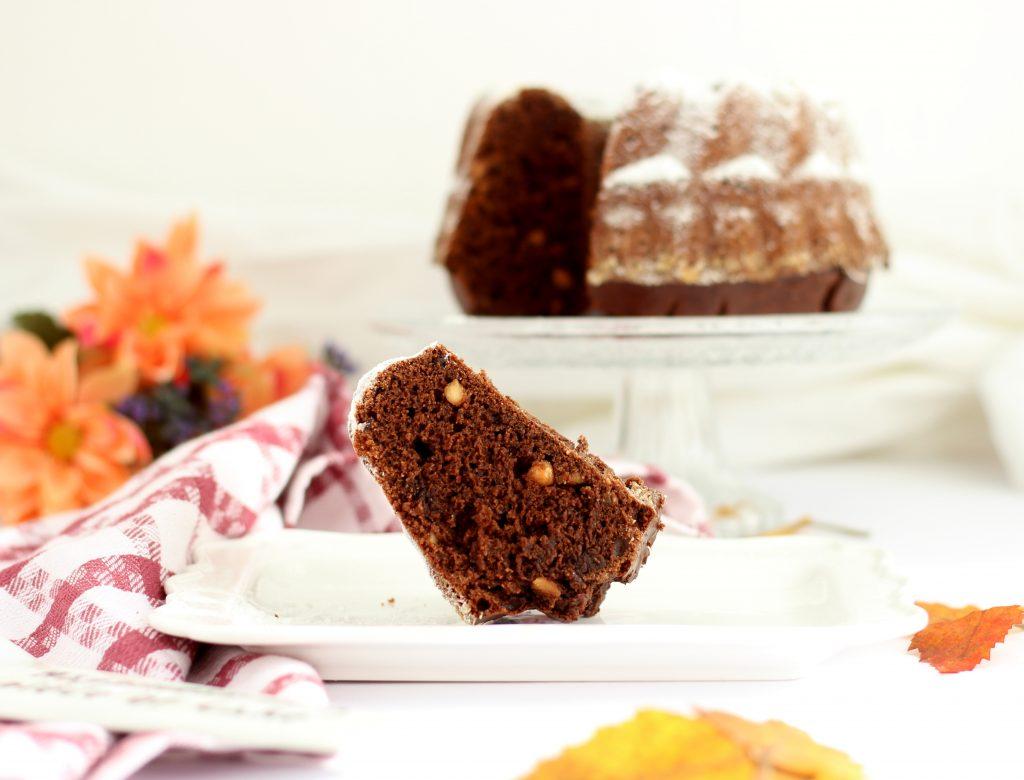 bundt cake al cioccolato e burro d'arachidi