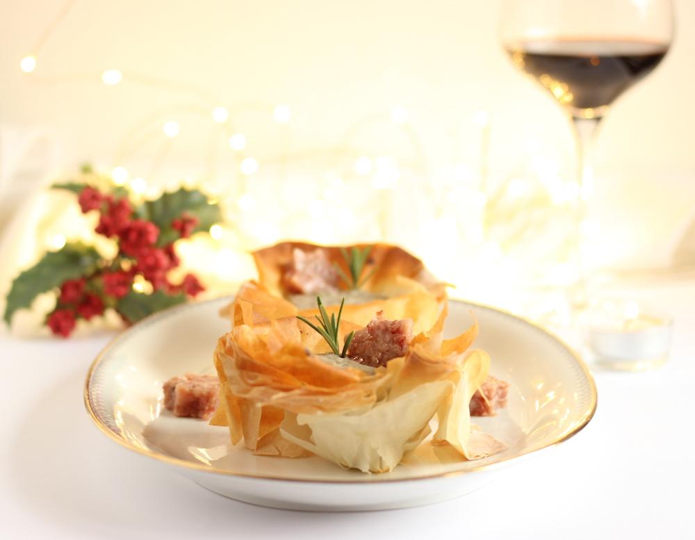 Cestini di pasta fillo con purea di lenticchie e cotechino per Natale con Metro