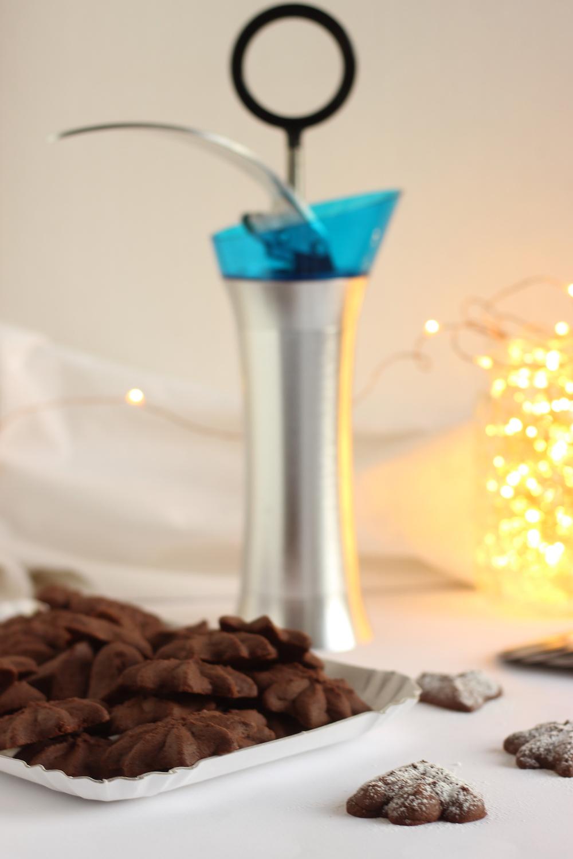 Biscotti di frolla montata al cacao con BisColt